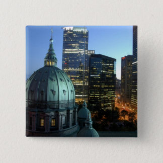Canada, Quebec, Montreal. Downtown Montreal, Pinback Button