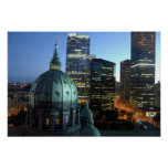 Canada, Quebec, Montreal. Downtown Montreal, Poster