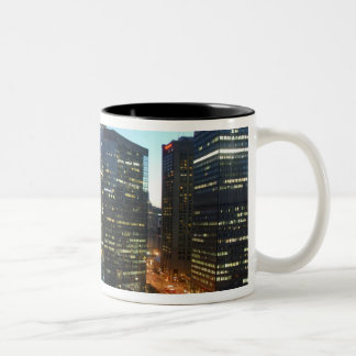 Canada, Quebec, Montreal. Downtown Montreal, Two-Tone Coffee Mug