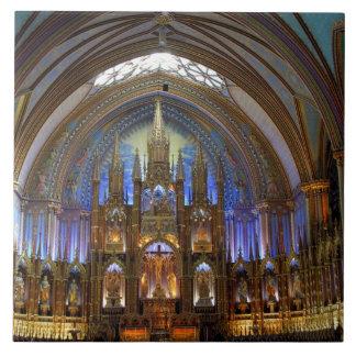 Canadá, Quebec, Montreal. Interior de Notre 2 Azulejo Cuadrado Grande