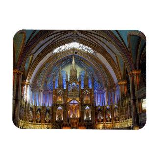 Canadá, Quebec, Montreal. Interior de Notre 2 Imán De Vinilo