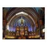 Canadá, Quebec, Montreal. Interior de Notre 2 Postales