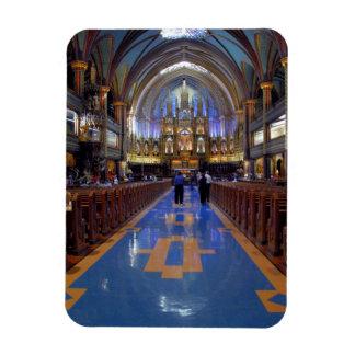 Canadá, Quebec, Montreal. Interior de Notre 3 Imán Rectangular