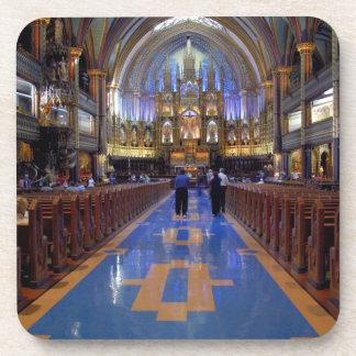 Canadá, Quebec, Montreal. Interior de Notre 3 Posavasos