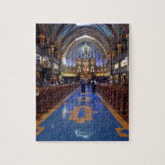 Canadá, Quebec, Montreal. Interior de Notre 3 Puzzle Con Fotos