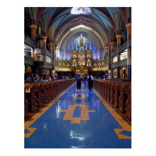 Canadá, Quebec, Montreal. Interior de Notre 3 Tarjetas Postales