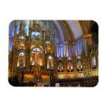 Canadá, Quebec, Montreal. Interior de Notre Imán Foto Rectangular