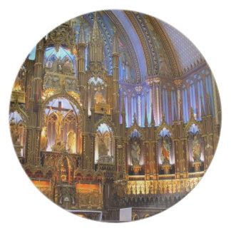 Canadá, Quebec, Montreal. Interior de Notre Plato
