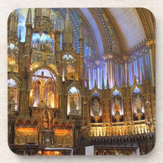 Canadá, Quebec, Montreal. Interior de Notre Posavasos De Bebida