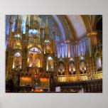 Canadá, Quebec, Montreal. Interior de Notre Póster