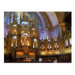 Canadá, Quebec, Montreal. Interior de Notre Postales