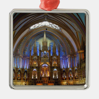 Canada,  Quebec,  Montreal. Interior of Notre 2 Metal Ornament