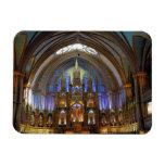 Canada,  Quebec,  Montreal. Interior of Notre 2 Rectangular Photo Magnet