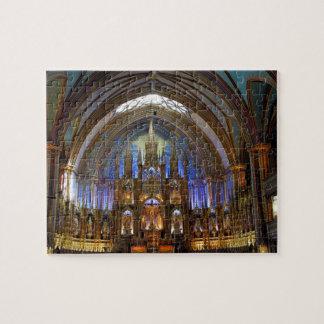 Canada,  Quebec,  Montreal. Interior of Notre 2 Puzzle