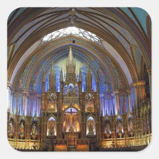 Canada,  Quebec,  Montreal. Interior of Notre 2 Square Sticker