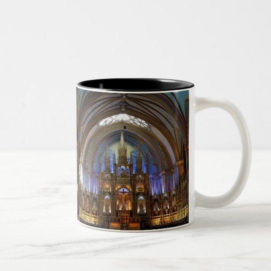 Canada,  Quebec,  Montreal. Interior of Notre 2 Two-Tone Coffee Mug