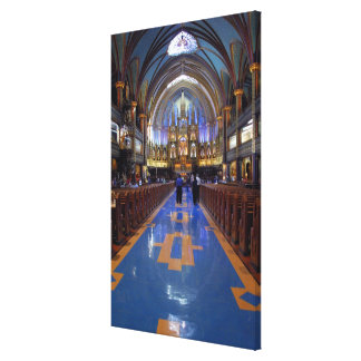 Canada,  Quebec,  Montreal. Interior of Notre 3 Canvas Print