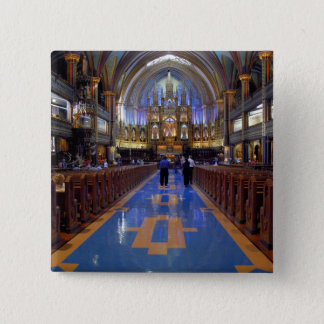 Canada,  Quebec,  Montreal. Interior of Notre 3 Pinback Button