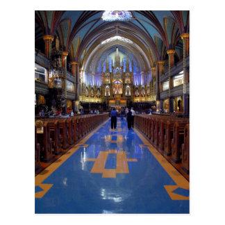 Canada,  Quebec,  Montreal. Interior of Notre 3 Postcard