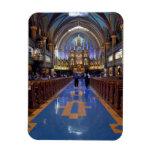 Canada,  Quebec,  Montreal. Interior of Notre 3 Rectangular Photo Magnet