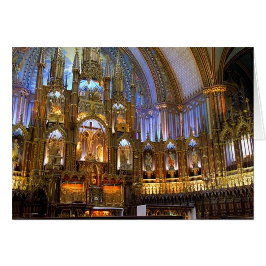 Canada,  Quebec,  Montreal. Interior of Notre Card