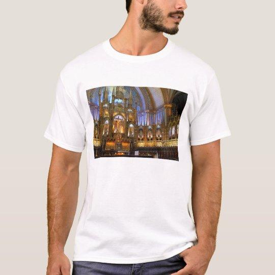 Canada,  Quebec,  Montreal. Interior of Notre T-Shirt
