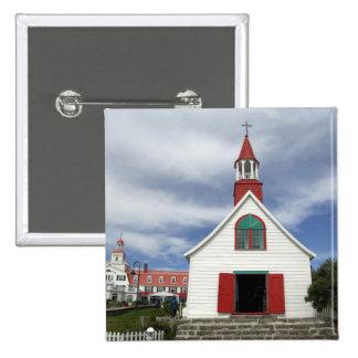 Canada,  Quebec,  Tadoussac. Petite Chapelle, 2 Inch Square Button
