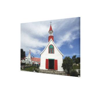 Canada,  Quebec,  Tadoussac. Petite Chapelle, Canvas Print