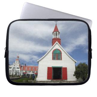 Canada,  Quebec,  Tadoussac. Petite Chapelle, Laptop Computer Sleeves