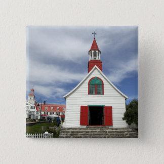 Canada,  Quebec,  Tadoussac. Petite Chapelle, Pinback Button