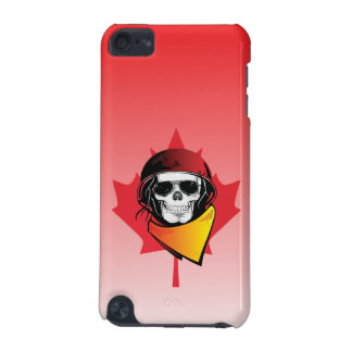 Canada Rebel Army Skull Maple Leaf iPod Touch (5th Generation) Cover
