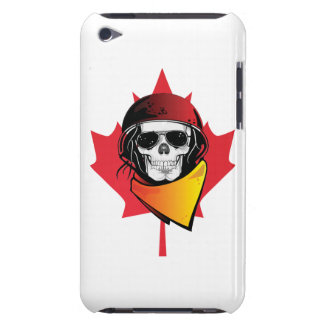 Canada Rebel Army Skull Maple Leaf iPod Touch Cover