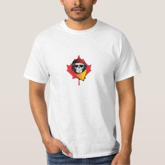 Canada Rebel Army Skull Maple Leaf T-Shirt