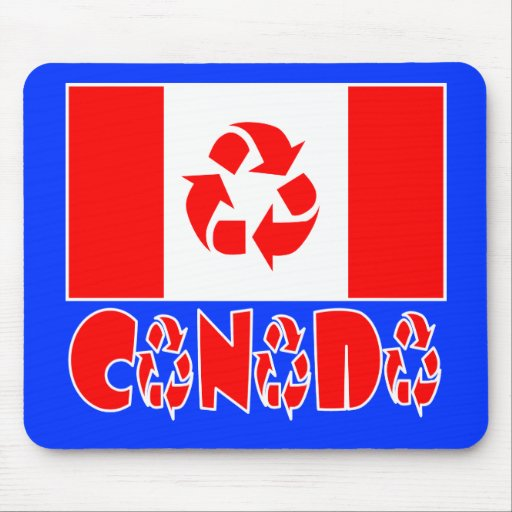 Canadá reciclado tapete de raton