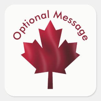 Canada Red Maple Leaf Custom Square Sticker