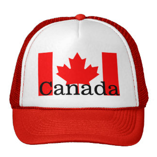Canada Red Maple Leaf Flag Colors Trucker Hat