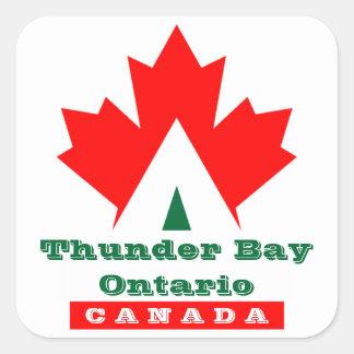Canada Red Maple Leaf Luggage Label Travel sticker