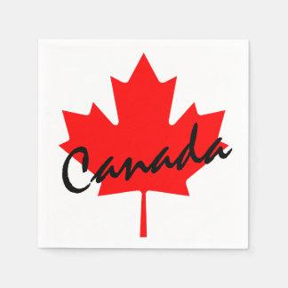 Canada Red Maple Leaf Paper Napkin