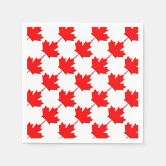 Canada Red Maple Leaf Pattern Napkin