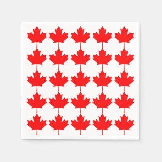Canada Red Maple Leaf Pattern Paper Napkin