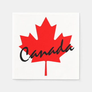Canada Red Maple Leaf Standard Cocktail Napkin