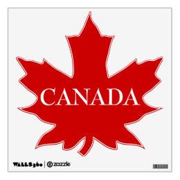 CANADA-Red Maple Leaf Wall Decal