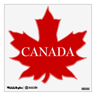 CANADA-Red Maple Leaf Wall Decals