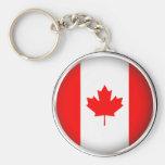 Canadá redondo llavero
