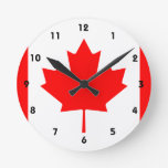 Canadá Reloj Redondo Mediano