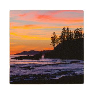 Canadá, reserva del parque nacional de los países posavasos de madera