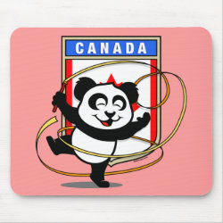 Mousepad with Canada Rhythmic Gymnastics Panda design