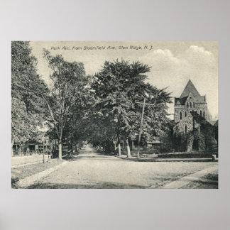 Cañada Ridge, vintage 1909 de New Jersey Posters