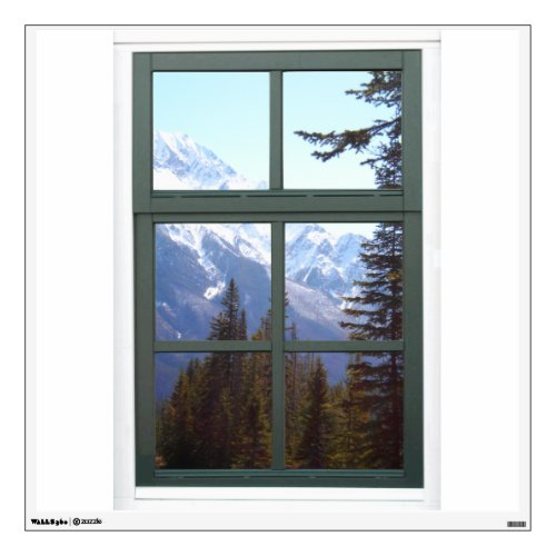Canada Rocky Mountains Fake Window View Wall Decal