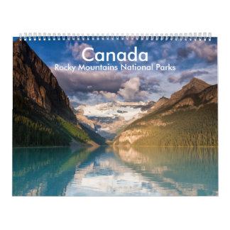 Canada - Rocky Mountains National Parks calender Calendar